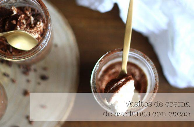 vasitos de crema de cacao